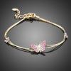 Arannyal bevont pillangós karlánc ausztriai kristályokkal + AJÁNDÉK DÍSZDOBOZ