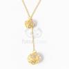 Arany bevonatos gömb medálos nyaklánc jwr-1170