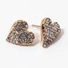 Arany bevonatos köves szivecske fülbevaló jwr-1067