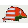 Árpádsávos hűtőmágnes Nagy-Magyarország körvonallal IV (14x8 cm)