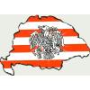 Árpádsávos rakamazi turulos hűtőmágnes Nagy-Magyarország körvonallal 8x5 cm