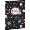 Ars Una Mixed Flowers sima füzet A/5