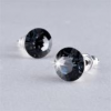 ART CRYSTELLA Fülbevaló, Black Diamond SWAROVSKI® kristállyal, 8mm, ART CRYSTELLA®