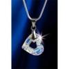 ART CRYSTELLA Nyaklánc, SWAROVSKI® kristállyal, fehér színjátszós, szív alakú medállal, 17 mm,