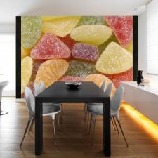 Artgeist Fotótapéta - Ízletes gyümölcskocsonya tapéta, díszléc és más dekoráció