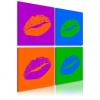 Artgeist Kép - Kisses: Pop art