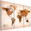 Artgeist Kép - Map of the World - Desert storm - triptych