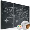Artgeist Kép parafán - Geography lesson [Cork Map]