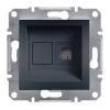 ASFORA Informatikai csatlakozóaljzat 1xRJ45, Cat6 UTP, antracit burkolattal, keret nélkül ( Schneider electric EPH4700171 )