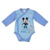 Asti Disney Mickey mókusos elöl patentos hosszú ujjú baba body kék 50