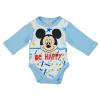 "Asti Disney Mickey ""Be happy"" hosszú ujjú baba body fehér-kék 62"