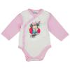 Asti Disney Minnie hosszú ujjú baba body fehér-rózsaszín 56