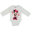 Asti Disney Minnie szívecskés nyuszis hosszú ujjú baba body fehér 62