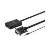 Astrum DA510 VGA + Audio - HDMI adapter fekete (aktív)