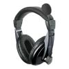 Astrum HS-222C sztereó fekete fejhallgató állítható mikrofonnal HS120