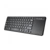 Astrum KW280 Bluetooth 3.0 ultravékony billentyűzet touchpaddal fekete, Android/IOS kompatibilis angol kiosztás