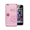 Astrum MC280 keretes virág mintás, színes Swarovski köves Apple iPhone 6 Plus hátlapvédő pink