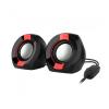 Astrum SU105 fekete-piros 2.0 csatornás 3,5MM multimédia hangszóró USB-s áramellátással, hang