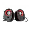 Astrum SU115 fekete-piros 2.0 csatornás 3,5MM multimédia hangszóró USB-s áramellátással, hang