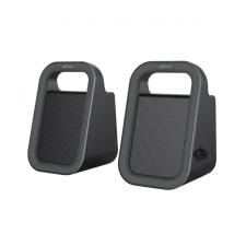 Astrum SU160 fekete 2.0 csatornás 3,5MM multimédia hangszóró USB-s áramellátással, prémium hangzással 2 X 3W, A13516-B mobiltelefon kellék