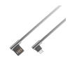 Astrum UT640 type-C 3.0A - USB 2.0 strapabíró erősített derékszögű adatkábel szürke
