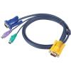 ATEN PS/2 VGA KVM kábel 6m