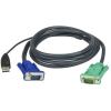 ATEN USB VGA KVM kábel 2m