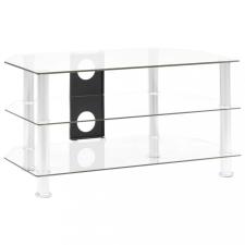 átlátszó edzett üveg TV-szekrény 75 x 40 x 40 cm bútor