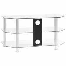 átlátszó edzett üveg TV-szekrény 96 x 46 x 50 cm bútor