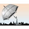 Átlátszó esernyő - város