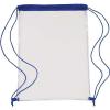 Átlátszó PVC tornazsák, kék