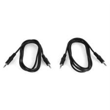 Auna 3,5 mm-es jack kábel, 1,5 m-es hossz, 2 darab/szett audió/videó kellék, kábel és adapter
