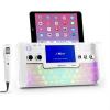 "Auna auna DiscoFever, fehér, bluetooth karaoke rendszer, LED, 7"" TFT kijelző, CD, USB"