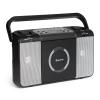 Auna Boomtown USB, boombox, CD lejátszó, FM rádió, MP3, hordozható bőrönd rádió, fekete