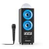 Auna DiscoStar Blue, hordozható 2.1 bluetooth hangfal, USB, akkumulátor, LED, mikrofon