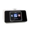 """Auna i-snooze internet rádió, rádiós ébresztőóra, WLAN, USB, AUX, 3,2"""" színes TFT kijelző, fehér"""