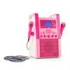 Auna KA8B-V2, rózsaszín, karaoke rendszer, CD lejátszó, 2 x mikrofon, 3 x karaoke CD mellékelve
