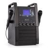 Auna KA8P-V2 BK karaoke renszer CD lejátszóval, AUX, 2 mikrofon, fekete