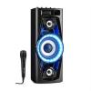 Auna PPS 35 audió rendszer, hangfal, akkumulátor, BT, USB, MP3, AUX, FM, gitár bemenet, LED, mikrofon