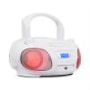 Auna Roadie DAB, CD lejátszó, DAB/DAB+, FM, LED diszkó fényeffektus, bluetooth, fehér