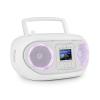 Auna Roadie Smart, boombox, internet rádió, DAB/DAB+, FM, CD lejátszó, LED, WiFi, bluetooth