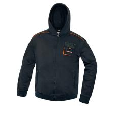 Australian Line emerton kapucnis pulóver, poliészter, fekete, 2XL