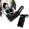 Autós Fm transzmitter, MP3 lejátszóval és dupla töltővel, bluetooth-al