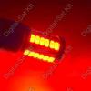 Autós LED izzó BA15S 12V piros 33 smd LED P21W 1156