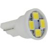 Autós led T10 helyzetjelző, index világítás, 4 led, 50 Lumen, 1W, hideg fehér, nem T10 izzó!  Life Light Led.
