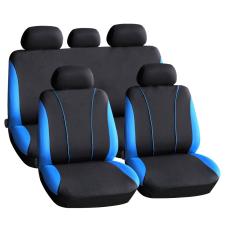 Autós üléshuzat szett - kék / fekete - 9 db-os - HSA001 ülésbetét, üléshuzat