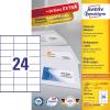 Avery Etikett -3475-200- 70x36 mm FEHÉR AVERY 200lap/dob