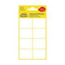 Avery Etikett AVERY 3078 38x29 mm fehér univerzális 40 címke/doboz 5 ív/doboz etikett