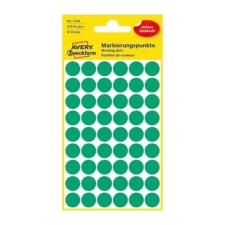 Avery Etikett AVERY 3143 jelölőpont 12mm zöld 270 db/csomag etikett