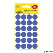 Avery Etikett AVERY 3596 öntapadó jelölőpont indigókék 18mm (96 jelölőpont/csomag) etikett